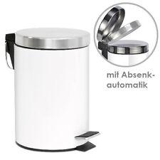 bremermann® Treteimer, Mülleimer, mit Absenk-Automatik, 3 L, weiß, 6808