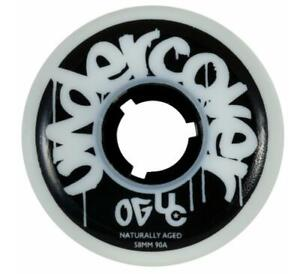 Undercover Naturally Aged Aggressive Inline Skate Wheels - 58mm/90A (Discoloured