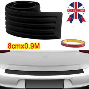 90cm Car Rear Bumper Sill Body Guard Protector Rubber Plate Trim Strip Cover G