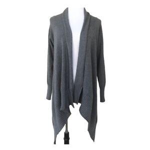 Zara Knit Gray Open Front Wrap Drape Tunic Sweater Cardigan Women Small