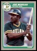1985 Fleer Joe Morgan Oakland Athletics #431
