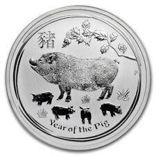 AUSTRALIE 1 Dollar Argent 1 Once Année du Cochon 2019