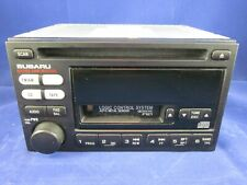 98-02 SUBARU FORESTER LEGACY OEM AM FM WEATHER BAND CD PLAYER RADIO CASSETTE
