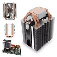 12V LED Hydraulic Bearing Quiet 3pin CPU Cooler Fan Heatsink Radiator for Intel
