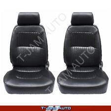 Deluxe Classic Pair 2 x Black Leather Car Bucket Seats - Camaro NEW