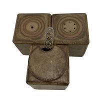 Vintage Mid Century Lacock Studio Pottery Cruet Set Salt & Pepper Mustard Pot