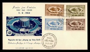 DR WHO 1964 VIETNAM FDC ATOMIC ENERGY CACHET COMBO  f95095