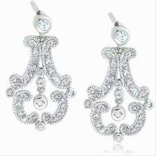 925 Silver CZ Antique Chandelier Earrings