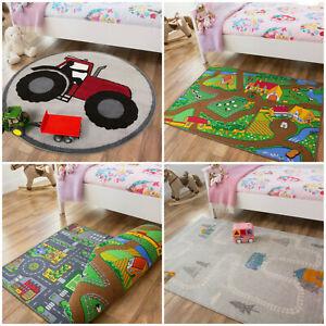 Kids Farm Playmats | Colorful Childrens Play Mats | Baby Play Mat | Playroom Rug