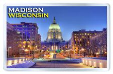 MADISON WISCONSIN USA FRIDGE MAGNET SOUVENIR IMAN NEVERA