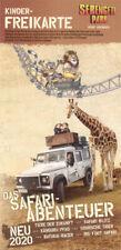 Kinder Freikarte Serengeti Park Hodenhagen  – Wert 27,50 € -