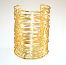 BRACCIALE ORO donna multi fili rigido dorato schiava sexy tendenza moda 9 cm 840