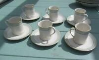 Royal Doulton Berkshire Coffee Cups & Saucers  Set of 6   £24.99 (Post Free UK )