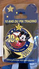 10 Ans du PIN TRADING Disneyland PARIS 2001-2011 JUMBO DLP LE 400 DISNEY PIN