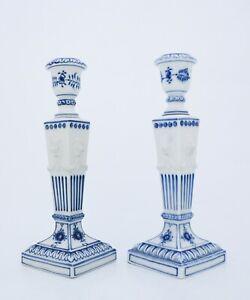 A pair of Candlesticks #15 - Blue Fluted - Royal Copenhagen - 1:st Quality