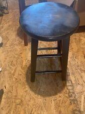 Black Desk Stool Chair Wood Solid 21
