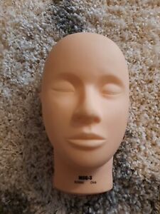 Burmax MSG-3 Cosmetology Make-Up Practice Face Massage Mannequin Head
