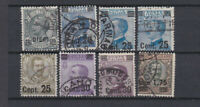 ITALY 1924 Surcharged King Values Used  Sc.150..158 (Sa.175/182)