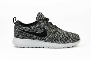 Women's Nike Roshe One Flyknit 7 Running Shoes Sneakers Wolf Grey Black