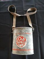 Vintage Old Pal Oval Wading Minnow bait Can bucket With Strap Antique NICE!!