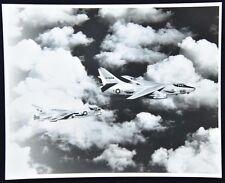 Vintage Navy Douglas EA-3 Skywarrior Refueling Navy Fighter VF-? Photo c.1970's