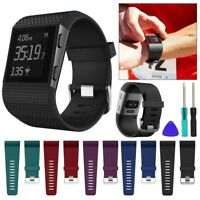 Fitbit Surge Replacement Silicone Wristband Strap Watch Band Metal Buckle