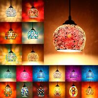 Retro Turkish Moroccan Mosaic Hanging Light Ceiling Pendant Lamp Lampshade