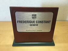 Plate Plaque Frederique Constant Genève - Authorized Dealer - Wood - Watches