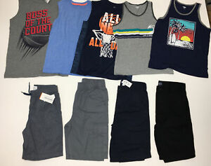Lot Boys Shorts Tanks Size 10-12 The Childrens Place Old Navy