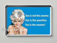 New, Quality Retro Fridge Magnet - SEX IS NOT THE ANSWER! - funny, cheeky!
