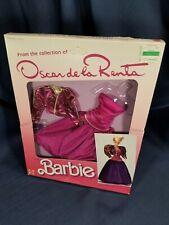 Vintage Mattel 1985 Oscar De La Renta Barbie Collector Series X 80's Fashion Lot