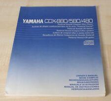 Yamaha CDX-480 / CDX-580 / CDX-880 Bedienungsanleitung mehrsprachig, Deutsch