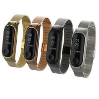 Cinturino regolabile maglia milanese ricambio smartwatch Xiaomi Mi Band 3 Mi3