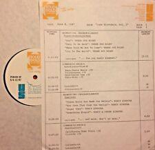 RADIO SHOW:B'DAYS 6/8/87 SETS w/3 DOG NIGHT, NANCY SINATRA,TOM JONES, GARY BONDS