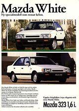 Mazda 323 White 07 / 1986 catalogue brochure limitee rare