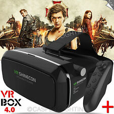 VIRTUAL REALITY 3D VR BOX GLASSES SHINECON HEADSET FOR IPHONE ANDROID S7 EDGE UK