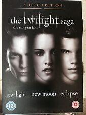 robert pattinson kristen stewart twilight / NEUF Moon / Eclipse~3 DISQUES GB DVD