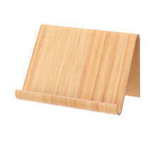 Universal Bamboo Tablet Cell Phone Stand & Holder. Wood Tablet Table Mount.