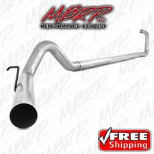 """MBRP 4"""" EXHAUST 99-03 FORD POWERSTROKE DIESEL 7.3L NO MUFFLER STRAIGHT PIPE"""