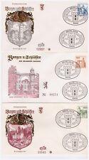 Berlin, Michel Nr. 532 - 540 Burgen und Schlösser kompletter Satz auf FDC