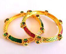Bollywood Style meenakari Bangle-Antique Gold Plated Bangle-Traditional Bangle