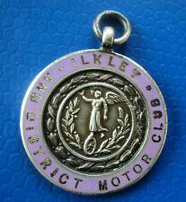 Argento E Smalto Auto medaglia/Fob-ilkley & DISTRETTO MOTOR CLUB 1930 Yorkshire