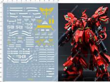 MG 1/100 NEO ZEON MSN04 SAZABI Ver.KA Gundam Model Kit Water Slide Decal 12*17cm