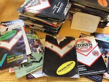 More details for large fulham rugby league programme collection approx 300 awesome value inc 1st