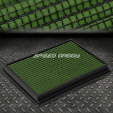 FOR 04-09 B7 TYP 8E A4/S4/RS4 GREEN REUSABLE&WASHABLE HIGH FLOW PANEL AIR FILTER