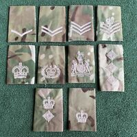 BRITISH ARMY SURPLUS MTP CAMOUFLAGE RANK SLIDE,LANCE CORPORAL TO FIELD MARSHAL 1