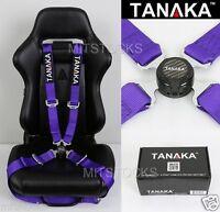 TANAKA UNIVERSAL PURPLE 4 POINT CAMLOCK QUICK RELEASE RACING SEAT BELT HARNESS