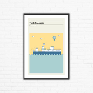 The Life Aquatic Belafonte Ship Minimalist Movie Poster, Wes Anderson