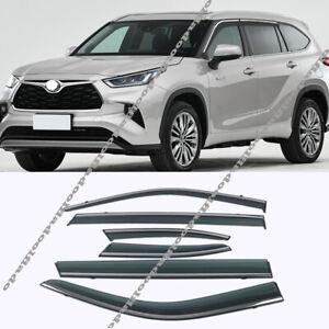 6pcs For Toyota Highlander 2020-2022 Car Window Visor Vent Sun Shade Rain Guard