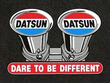 Datsun Dare to be Different Sticker, Velocity Stacks, Sports Car Racing Decal